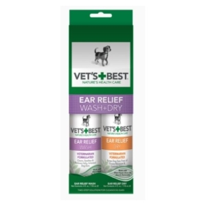 Vets Best Ear Relief Wash & Dry Kit