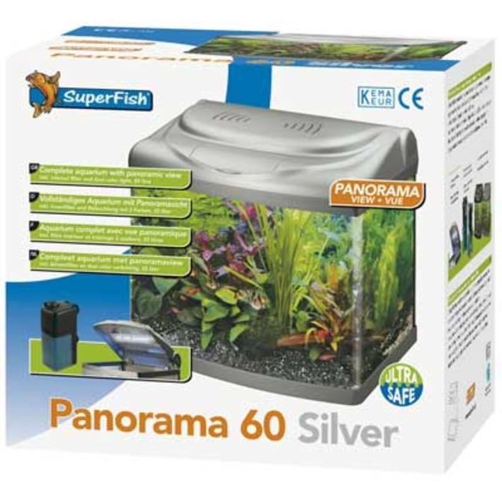 Superfish Panorama 60 Aquarium Silver