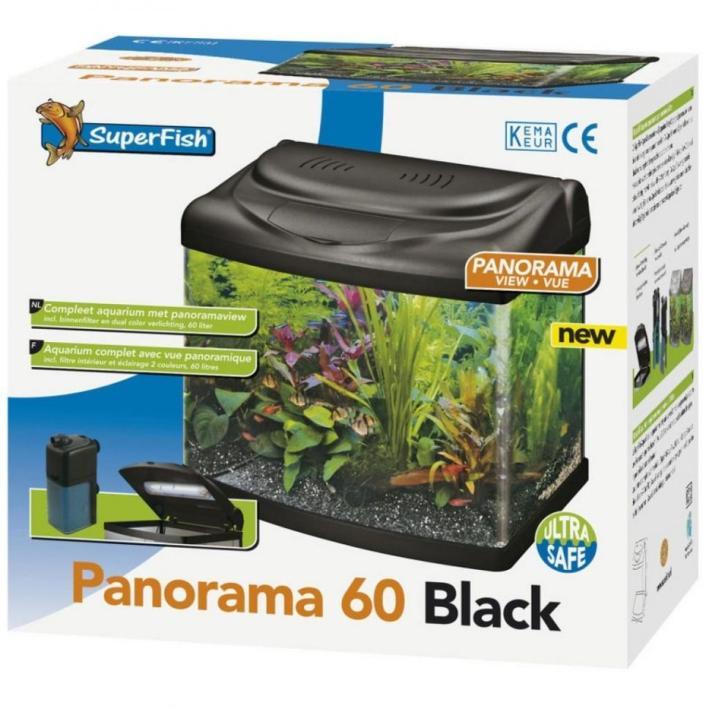Superfish Panorama 60 Aquarium Black