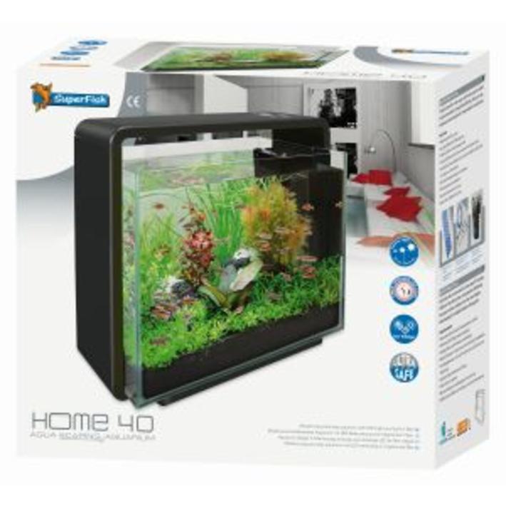 Superfish Home 40 Aquarium Black