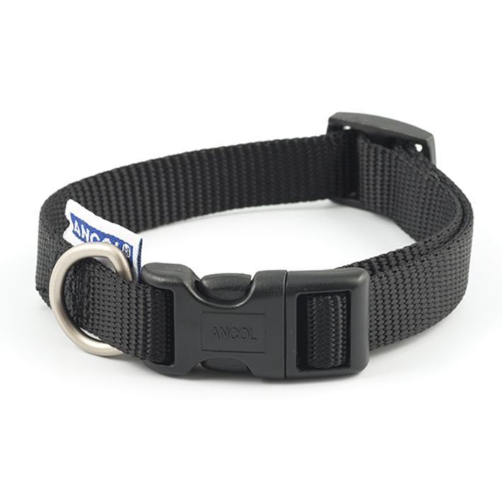 Ancol Heritage Adjustable Nylon Collar Black