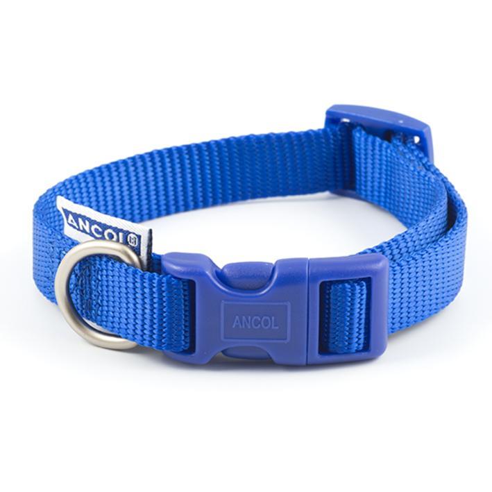 Ancol Heritage Adjustable Nylon Collar Blue