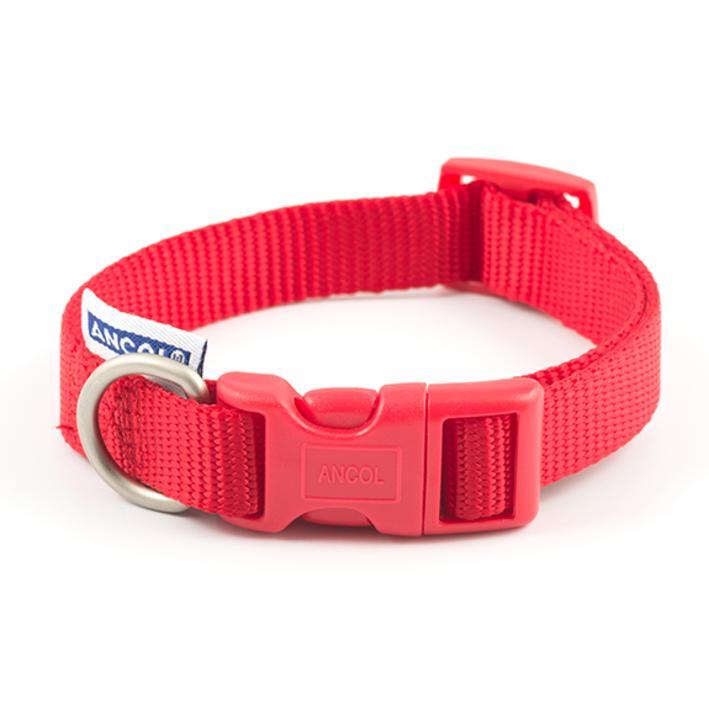 Ancol Heritage Adjustable Nylon Collar Red