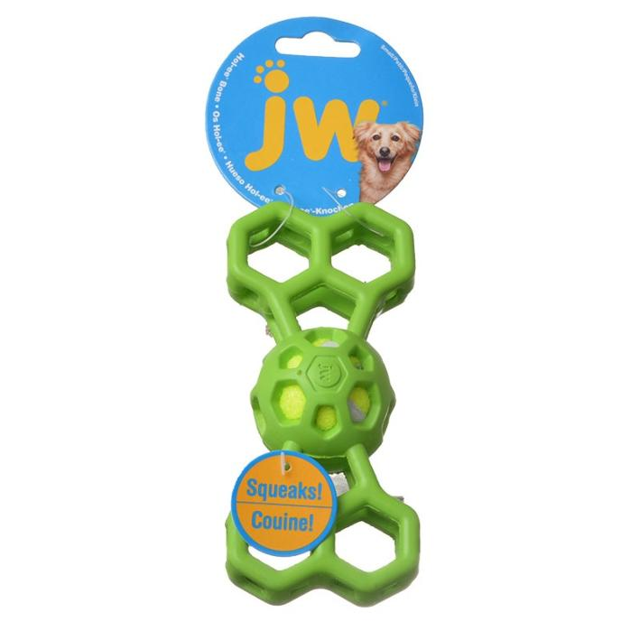 JW Holee Bone with Squeaker (Two Sizes)