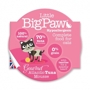 Little BigPaw Complete Gourmet Atlantic Tuna Mousse 8 x 85gm (Grain & Gluten Free)
