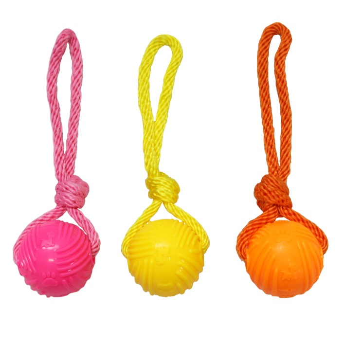 Good Boy Glow Ball on Rope 6cm