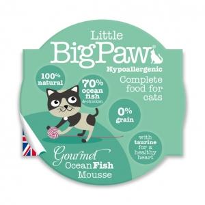 Little BigPaw Complete Gourmet Ocean Fish Mousse 8 x 85gm (Grain & Gluten Free)