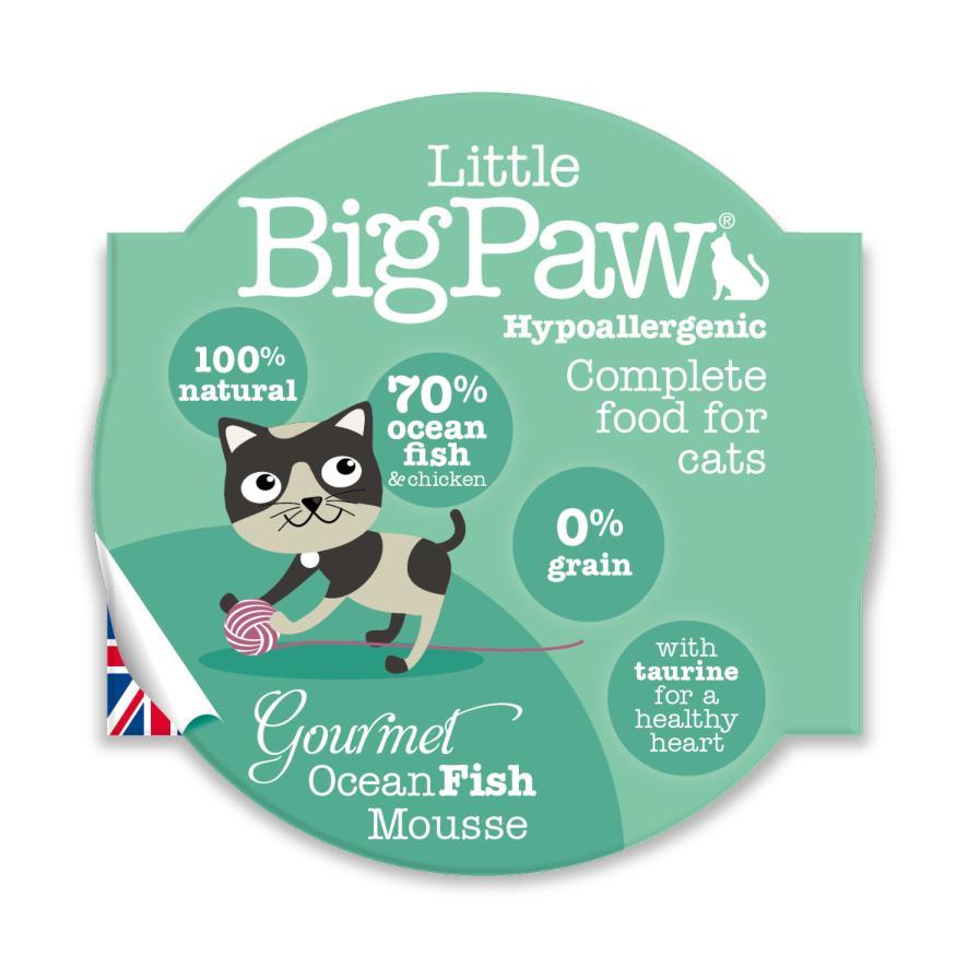 Little BigPaw Gourmet Ocean Fish Mousse 8 x 85gm
