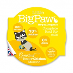 Little BigPaw Cat Food Tender chicken Mousse 8 x 85gm