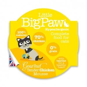 Little BigPaw Cat Food Tender chicken Mousse 8 x 85gm