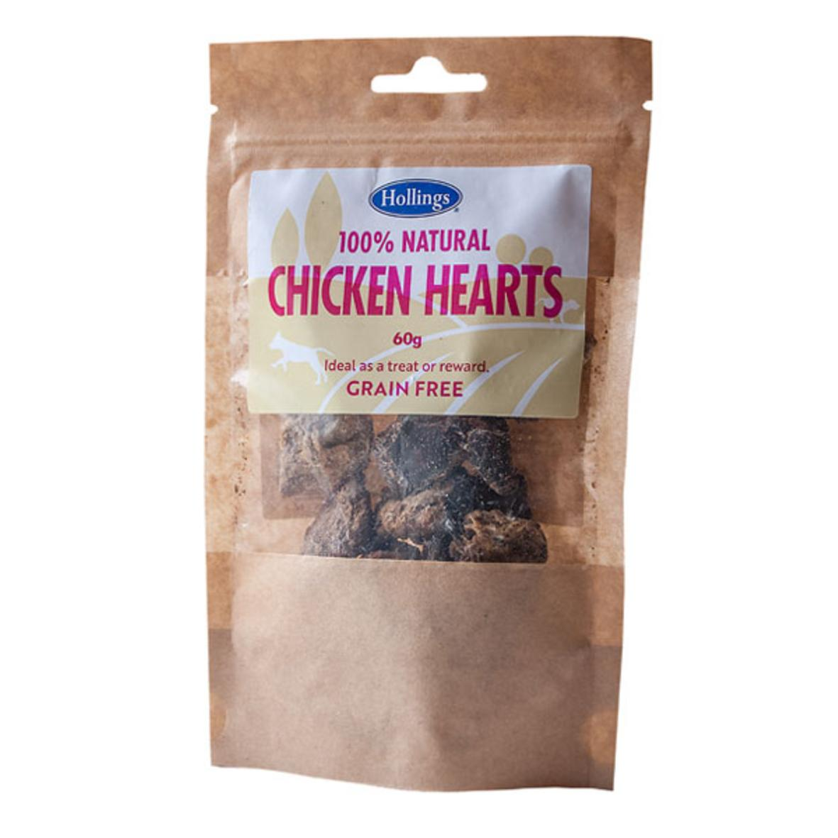 Hollings Chicken Hearts 60g