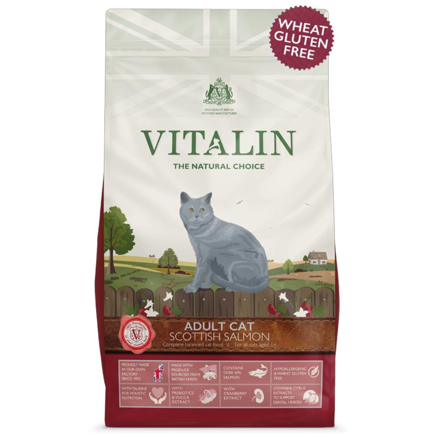 Vitalin Cat Food with Salmon 1.5kg