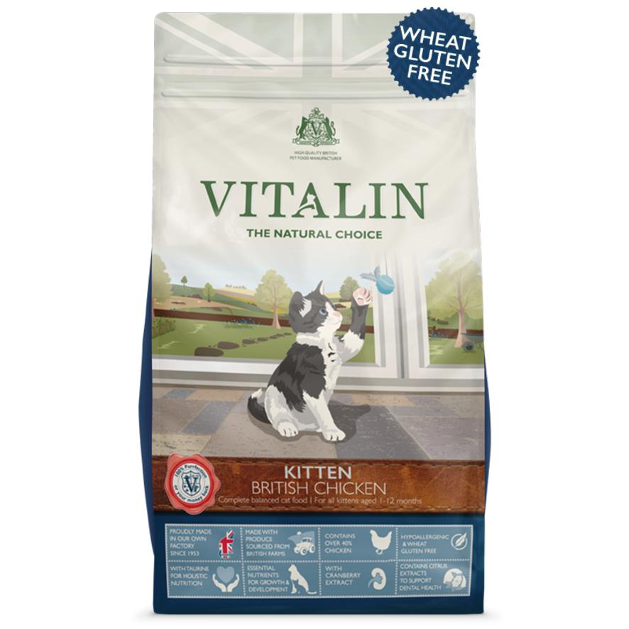 Vitalin Kitten Food with Chicken 1.5kg