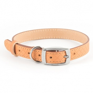 Ancol Heritage Diamond Leather Collar Tan