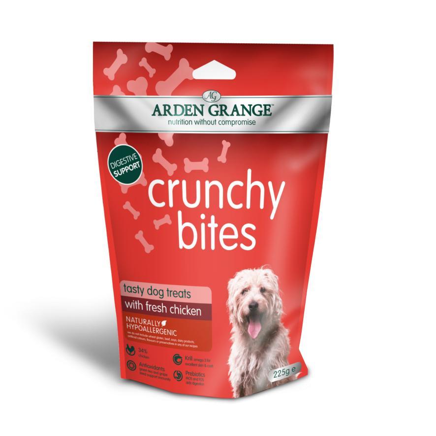 CLEARANCE Arden Grange Crunchy Bites with Fresh Chicken 225gm