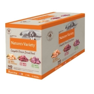 Natures Variety Complete Freeze Dried Multipack 6x120g