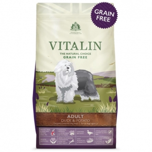 Vitalin Grain Free Dog Food with Duck and Potato