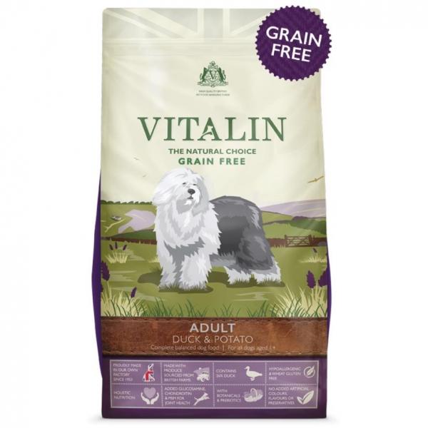 Vitalin Grain Free Dog Food with Duck and Potato