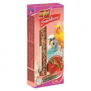 Vitapol Strawberry Smakers Sticks for Budgies 2pcs
