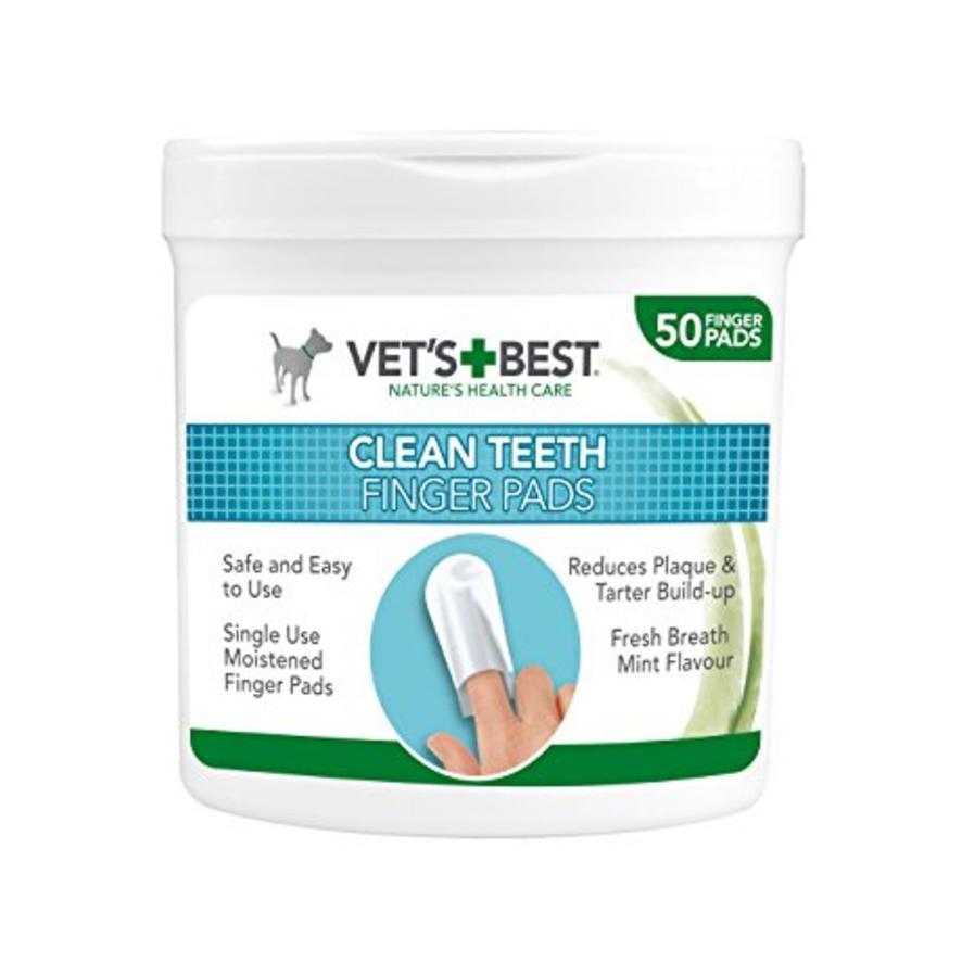 Vets Best Clean Teeth Finger Pads 50pcs