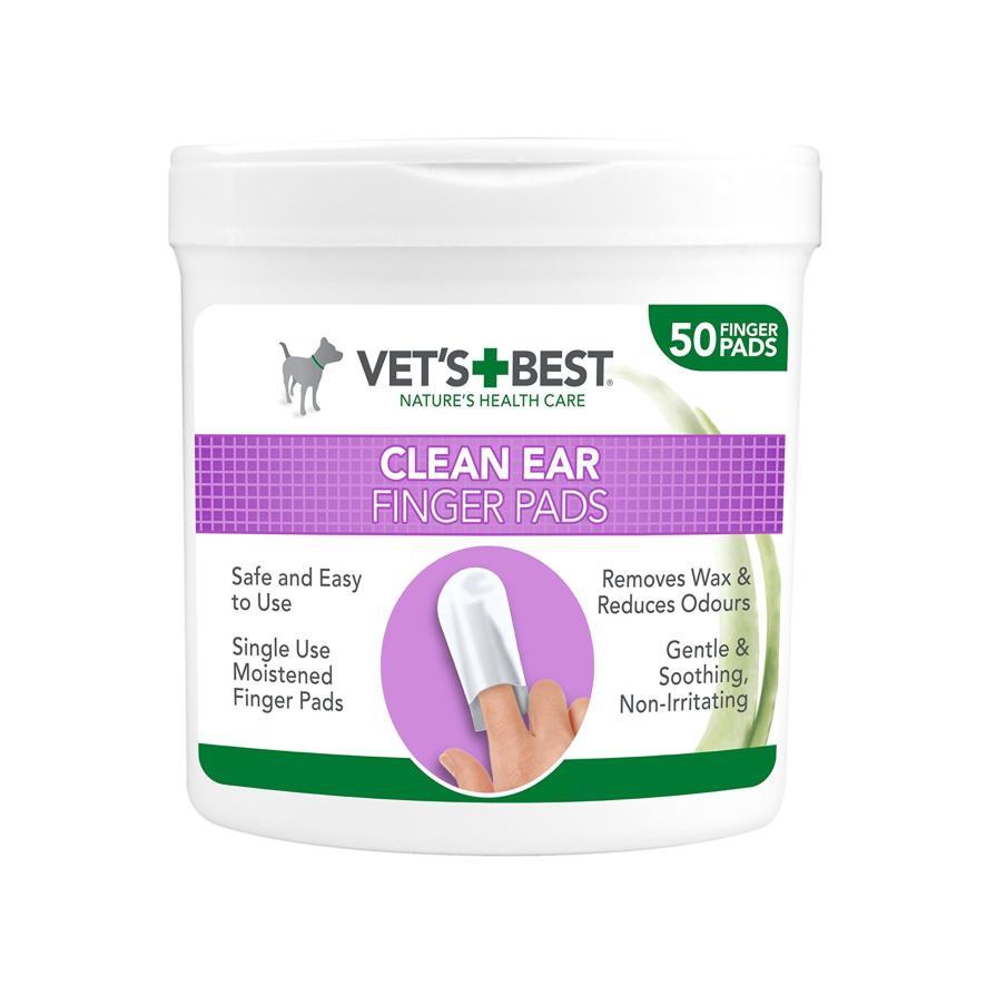Vets Best Clean Ear Finger Pads 50pcs