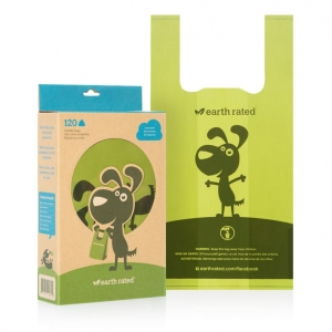 Earth Rated Poo Bags Unscented Tie Handles 120pcs