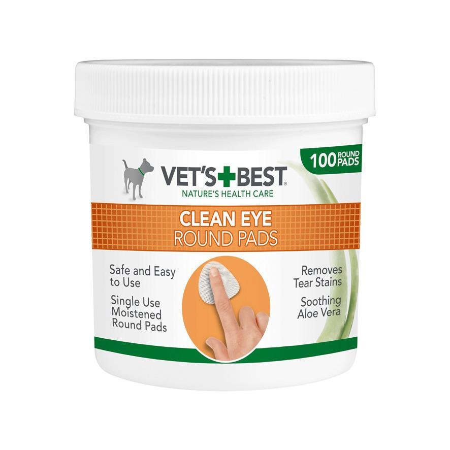 Vets Best Clean Eye Round Pads 100pcs