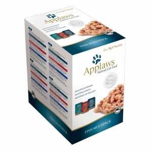 Applaws Fish Multipack Pouches in Broth for Cats 12 x 70gm