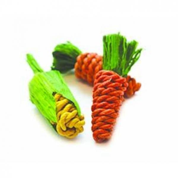 Critters Choice Sisal Carrots and Corn 3pcs
