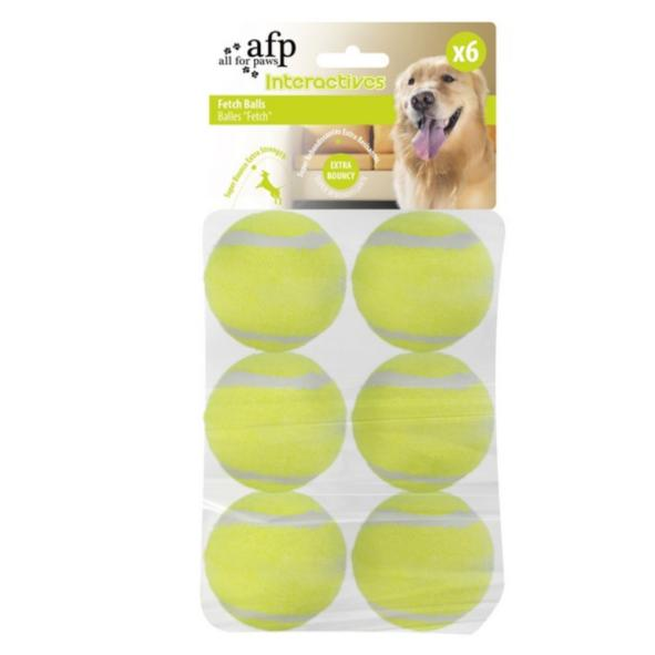 CLEARANCE All for Paws Fetch Balls 6.3cm 6pcs