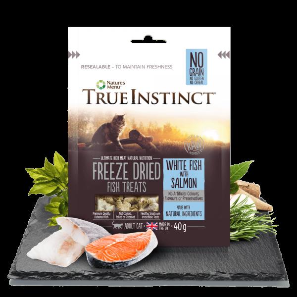 True Instinct Freeze Dried Cat Treats White Fish with Salmon 40gm