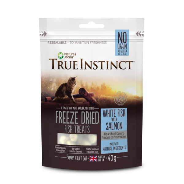 True Instinct Freeze Dried Fish Treats for Cats 40gm (Grain & Gluten Free)