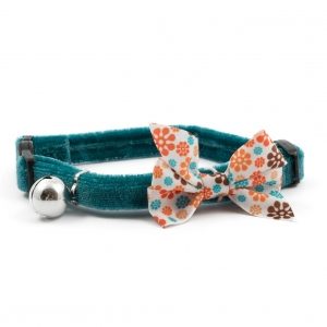 Ancol Vintage Bow Cat Collar Teal