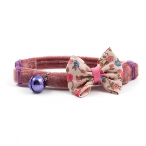 Ancol Vintage Bow Cat Collar Pink