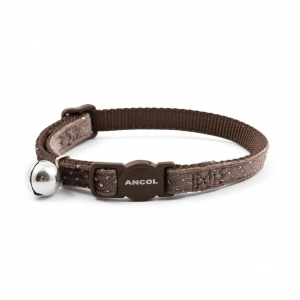 Ancol Velvet Sparkle Cat Collar Coffee Brown