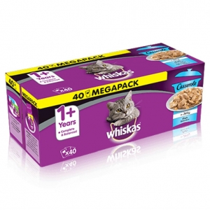 Whiskas Pouches Casserole Fish Selection in Jelly 40pk