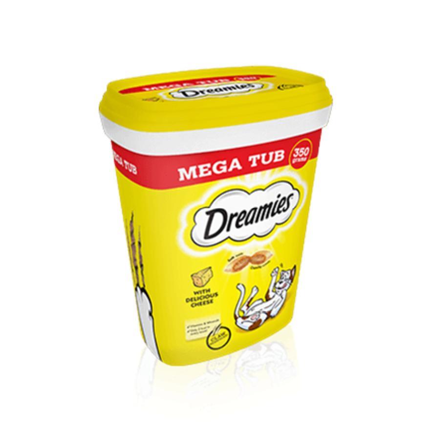 Dreamies Cat Treats with Cheese MEGA TUB 350gm