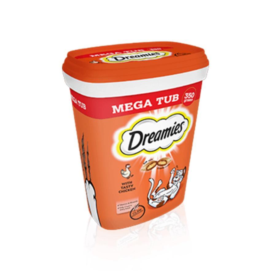 Dreamies Cat Treats with Chicken MEGA TUB 350gm