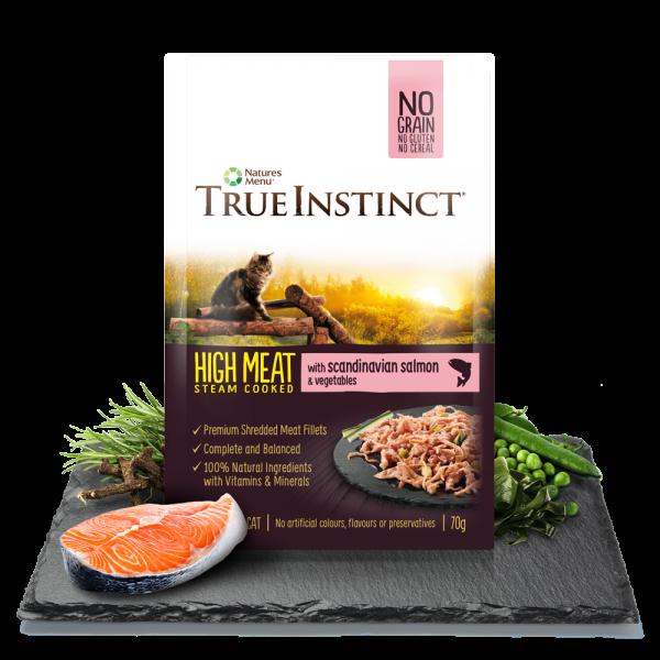 True Instinct High Meat Cat Pouches with Scandinavian Salmon 70gm