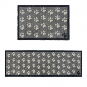 "Howler & Scratch Pet Mat ""Small Paws"" Grey (Two Sizes)"