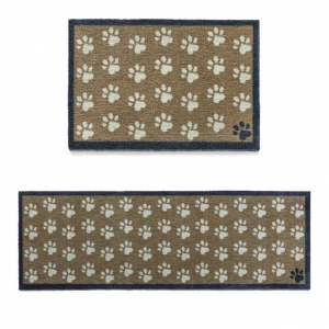 "Howler & Scratch Pet Mat ""Small Paws"" Brown (Two Sizes)"