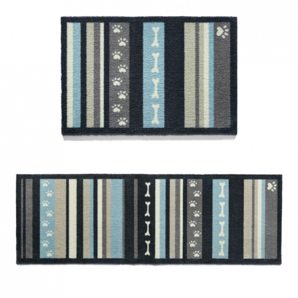 "Howler & Scratch Pet Mat ""Stripe 1"" Grey (Two Sizes)"