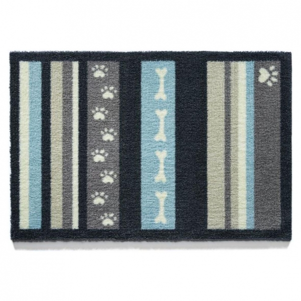 "Howler & Scratch Pet Mat ""Stripe 1"" Grey Small"