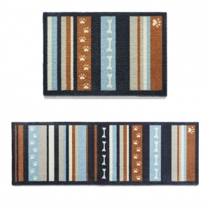 "Howler & Scratch Pet Mat ""Stripe 3"" Orange"