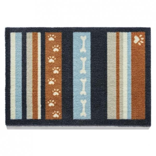 """Howler & Scratch Pet Mat """"Stripe 3"""" Orange Small"""