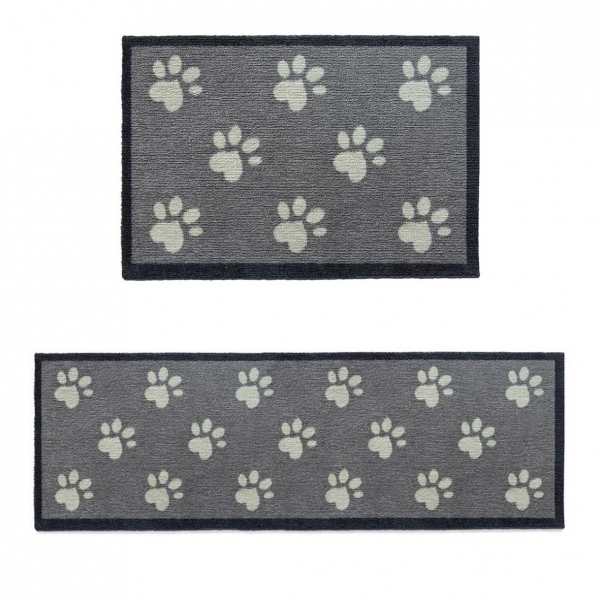 "Howler and Scratch Pet Mat ""Big Paw 1"" Grey (Two Sizes)"