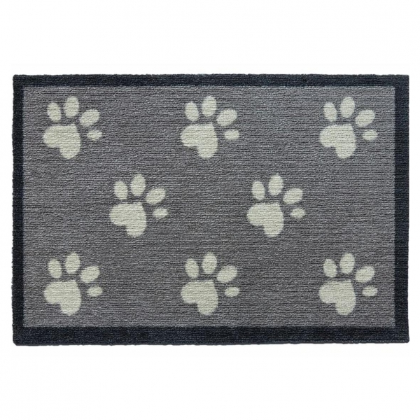 "Howler and Scratch Pet Mat ""Big Paw 1"" Grey 50cm x 75cm"
