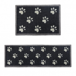 "Howler & Scratch Pet Mat ""Big Paw 2"" Navy"