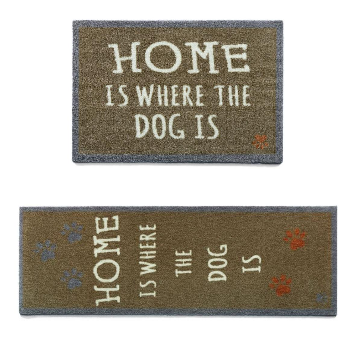 "Howler & Scratch Pet Mat ""Home 1"" Brown (Two Sizes)"