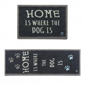 "Howler and Scratch Pet Mat ""Home 2"" Navy (Two Sizes)"